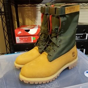 "TIMBERLAND 6"" PREMIUM MIXED MEDIA GAITER BOOTS"